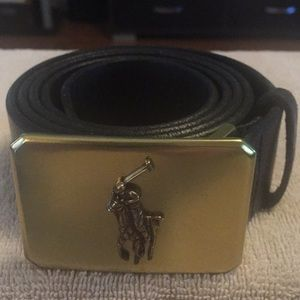 Polo belt buckle and leather belt size 42